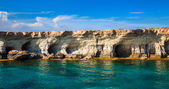Sea caves at Cape Greco, Cyprus — Stock Photo