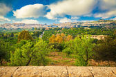 Agrigento city seen from the Valley of Temples — Stok fotoğraf
