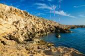 Rocky coastline at Cape Greco — Stockfoto