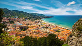 Beautiful aerial view of the village Cefalu — Stock Photo