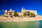 Palma Cathedral and the Almudaina Palace — Stock Photo