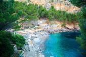 Small beach at the Sa Calobra bay — Stock Photo