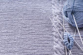 How to knit a sock. Background — Foto Stock