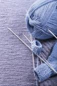 How to knit a sock. Background — Stock fotografie