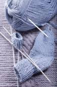 How to knit a sock.Part 4 - final — Stock fotografie