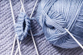 How to knit a sock.Part 1 — Stock fotografie