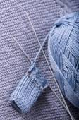 How to knit a sock.Part 2 - heel — Stock fotografie