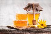 соты с медом — Стоковое фото