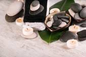 Spa concept with stones — Stock Photo