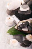 Spa koncept s kameny — Stock fotografie