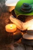 концепция спа с камнями — Стоковое фото