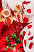 Valentine's Day. Table appointments — Stock Photo