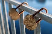 Locks on the bridge — Stock Photo