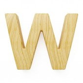 Wooden alphabet letter symbol - W — Stock Photo