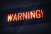 Warning concept — Stock Photo