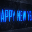 HAPPY NEW YEAR text on virtual screens — Foto Stock #56004929