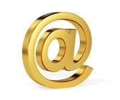 """Golden """"at"""" simbol — Stock Photo"""
