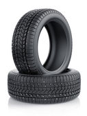 Winter tyres with metal spikes — Stock Photo