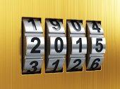 2015 Year combination lock — Stock Photo