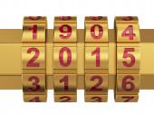 2015 yılı şifreli kilit — Stok fotoğraf