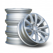 Car alloy tyre rims isolated on white background — Stock Photo