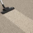 Vacuum cleaner hoover on dirty carpet. House cleaning concept — Stock Photo #64552977