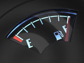 Gas gage with the needle indicating a full tank. Fuel concept — Stock Photo