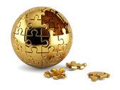 Spherical jigsaw puzzle — Stock Photo