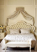 King sized bed — Stock Photo