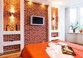 Big modern Bedroom . — Foto de Stock