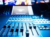 Zvukový Směšovač zvuku tlačítek a posuvníků — Stock fotografie