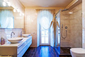 Beautiful Large Bathroom in Luxury Home — Stock Photo