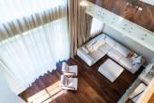 Big modern living room — Stock Photo