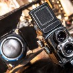 Old retro camera.Macro view — Stock Photo #63520859