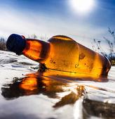Decorative drinking plastic bottle — Stock fotografie