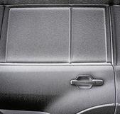 Frozen part of car. Selective focus. A little of DOF. — Foto de Stock