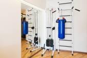 Private Fitness-Studio zu Hause. — Stockfoto