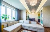 A big Modern living room . — Stock Photo