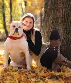 Urlaub mit Hund im park — Stockfoto