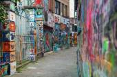 Graffiti - arte urbano — Stok fotoğraf
