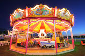 Illuminated carousel — Stock Photo