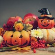 Funny pumpkins — Stock Photo #55095415