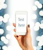 Blue text — Stock Photo