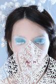 Blauwe make-up — Stockfoto