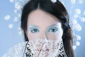 Frozen eyes — Stock Photo