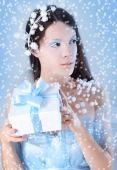 Mavi kar — Stok fotoğraf
