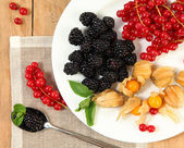 Fruits on plate — Stock Photo