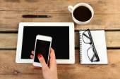 Mobile and tablet — Stock Photo