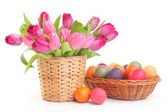 Flower and egg — Stock Photo