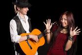 Jovens músicos executam música — Foto Stock